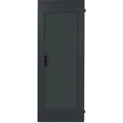 Lowell Manufacturing Rack Front Door - Plexiglass - 24U, fits LHR Series, Locking (Black)