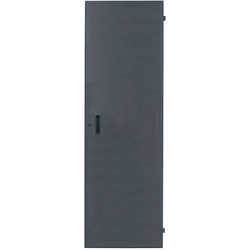 Lowell Manufacturing Rack Front Door - Solid-35U, fits LHR Series, Locking (Black)