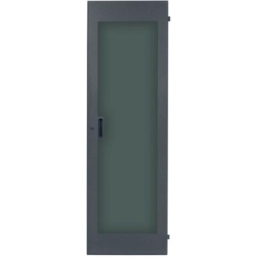 Lowell Manufacturing Rack Front Door - Plexiglass - 35U, fits LHR Series, Locking (Black)