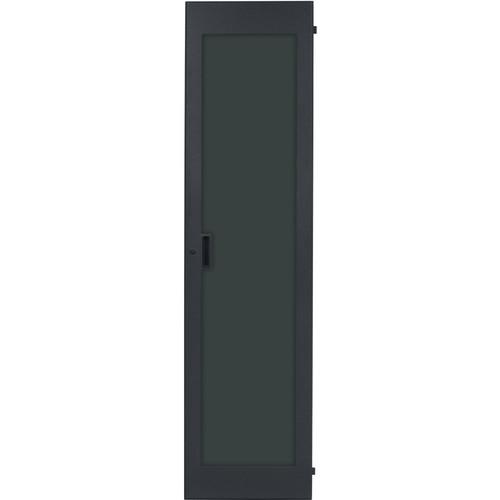 Lowell Manufacturing Rack Front Door - Plexiglass - 44U, fits LHR Series, Locking (Black)