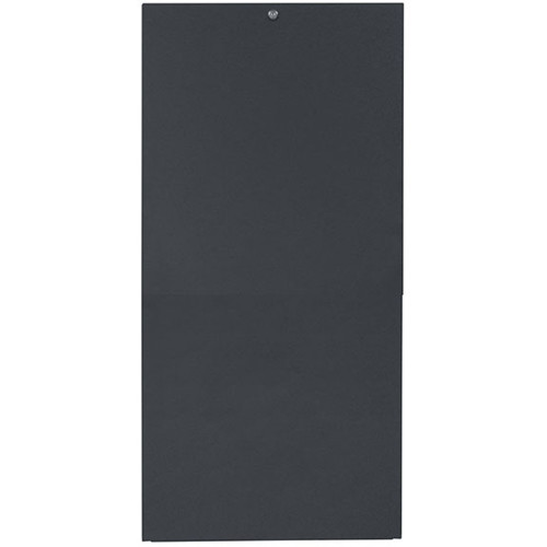 Lowell Manufacturing Rack-Rear Access Cover-24U, fits LHR Series, Locking/Solid (Black)