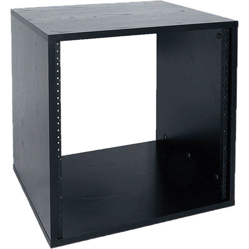 "Lowell Manufacturing Rack-Laminate-10U, 18"" Deep, Unassembled (Black)"