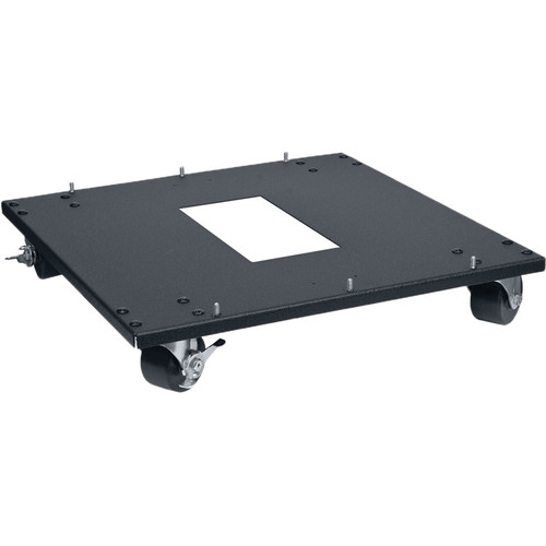 """Lowell Manufacturing Rack Base-Mobile-22"""" Deep, 3"""" Swivel Casters (Black)"""