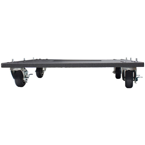 "Lowell Manufacturing Rack Base-Mobile-22"" Deep, 3"" Fine-Floor Swivel Casters (Black)"