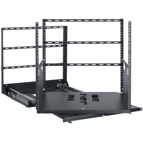 "Lowell Manufacturing Rack-Pull and Turn System-10U, 2-Slides, 19"" Deep (Black)"