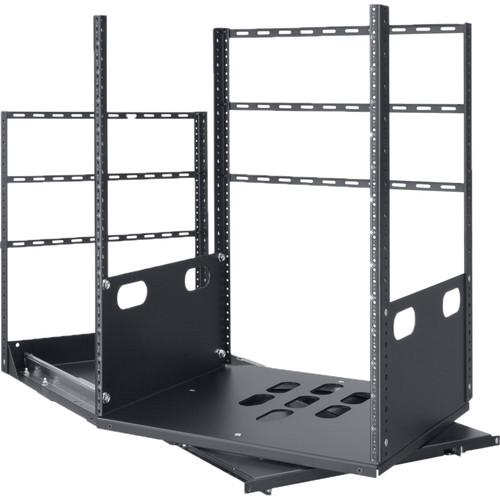 "Lowell Manufacturing Rack-Pull and Turn System-14U, 2-Slides, 19"" Deep (Black)"