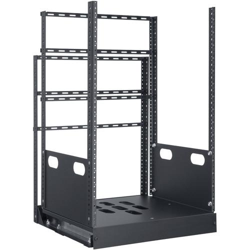 "Lowell Manufacturing Rack-Pull and Turn System-16U, 2-Slides, 19"" Deep (Black)"