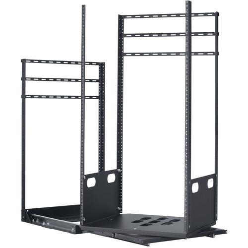 "Lowell Manufacturing Rack-Pull and Turn System-21U, 2-Slides, 19"" Deep (Black)"