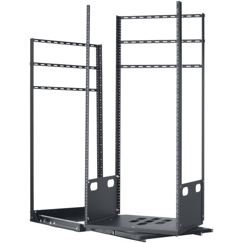 "Lowell Manufacturing Rack-Pull And Turn System-24U, 2-Slides, 19"" Deep (Black)"