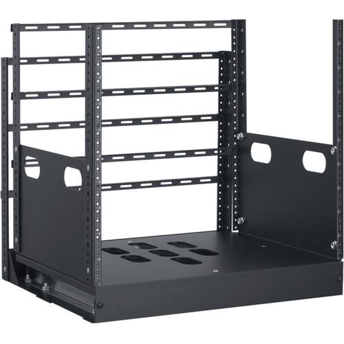 "Lowell Manufacturing Rack-Pull And Turn System-10U, 4-Slides, 23"" Deep (Black)"