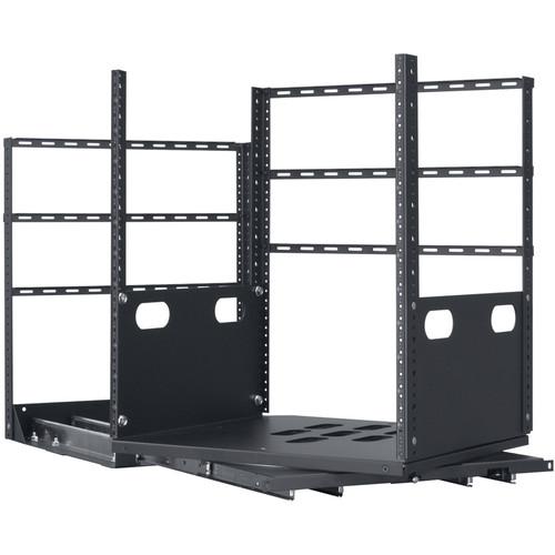 "Lowell Manufacturing Rack-Pull And Turn System-12U, 4-Slides, 23"" Deep (Black)"