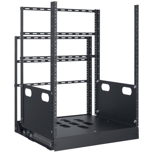 "Lowell Manufacturing Rack-Pull And Turn System-14U, 4-Slides, 19"" Deep (Black)"
