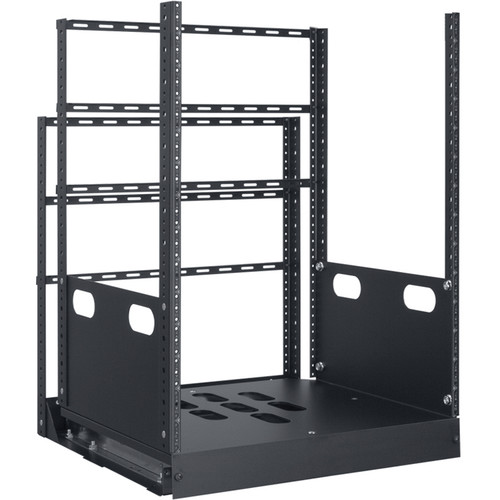 "Lowell Manufacturing Rack-Pull And Turn System-14U, 4-Slides, 23"" Deep (Black)"