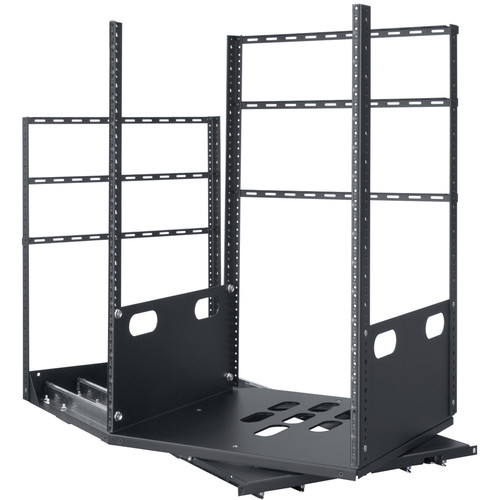 "Lowell Manufacturing Rack-Pull And Turn System-16U, 4-Slides, 19"" Deep (Black)"
