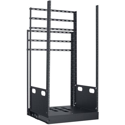 "Lowell Manufacturing Rack-Pull And Turn System-21U, 4-Slides, 19"" Deep (Black)"