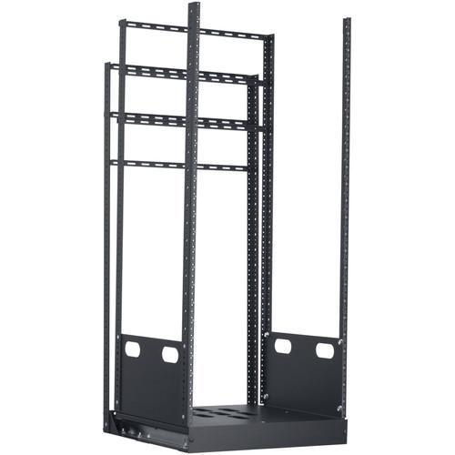 "Lowell Manufacturing Rack-Pull And Turn System-24U, 4-Slides, 19"" Deep (Black)"