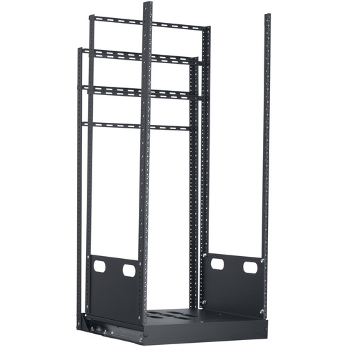 "Lowell Manufacturing Rack-Pull And Turn System-24U, 4-Slides, 23"" Deep (Black)"