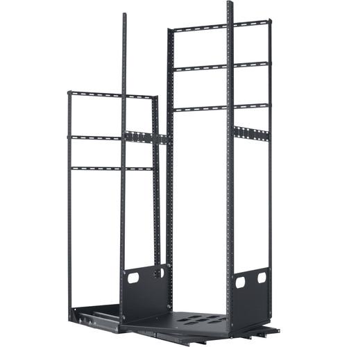 "Lowell Manufacturing Rack-Pull And Turn System-28U, 4-Slides, 19"" Deep (Black)"