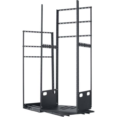"Lowell Manufacturing Rack-Pull And Turn System-28U, 4-Slides, 23"" Deep (Black)"