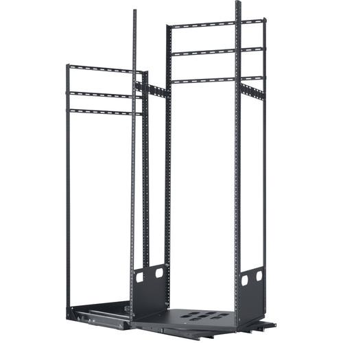 "Lowell Manufacturing Rack-Pull And Turn System-30U, 4-Slides, 23"" Deep (Black)"