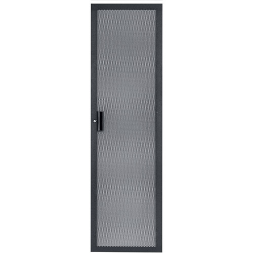 Lowell Manufacturing Door-Fully Vented Rear -35U, Locking (Black)
