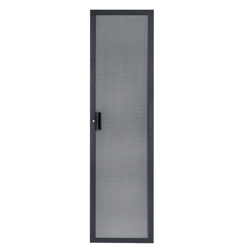 Lowell Manufacturing Door-Fully Vented Rear-40U, Locking (Black)