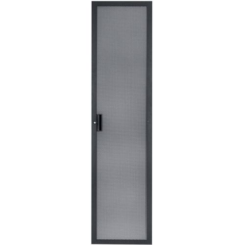 Lowell Manufacturing Door-Fully Vented Rear-44U, Locking, (Black)