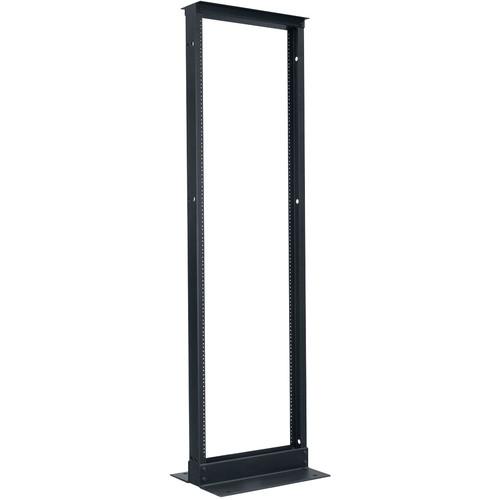"Lowell Manufacturing Rack-Relay-Voice-Data-38U, 15"" Deep (Black)"