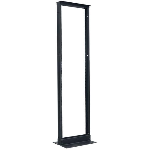 "Lowell Manufacturing Rack-Relay-Voice-Data-45U, 15"" Deep (Black)"