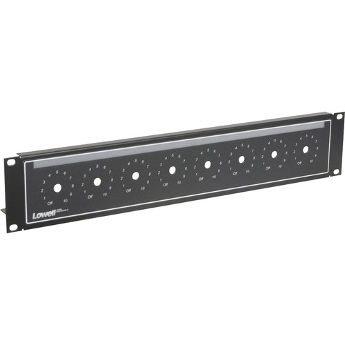 Lowell Manufacturing Rack Panel-Volume Control-2U (Black)