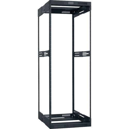 "Lowell Manufacturing Rack-Variable Depth - 30U, Expands from 21 - 28"" Deep (Black)"