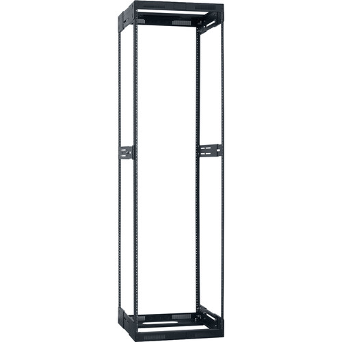 """Lowell Manufacturing Rack-Variable Depth - 38U, Expands from 21 - 28"""" Deep (Black)"""