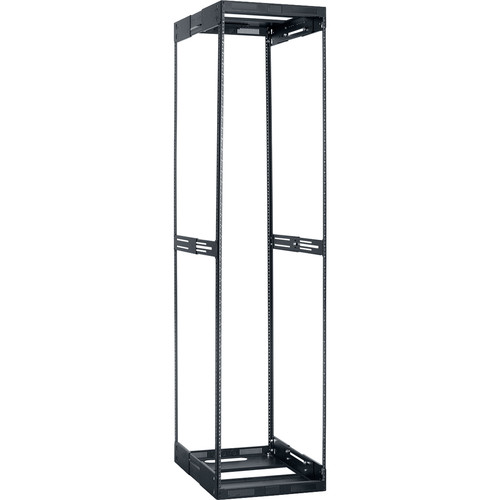 """Lowell Manufacturing Rack-Variable Depth - 44U, Expands from 21 - 28"""" Deep (Black)"""