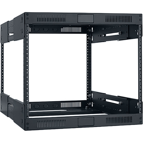 """Lowell Manufacturing Rack-Variable Depth - 8U, Expands from 14 - 21"""" Deep (Black)"""
