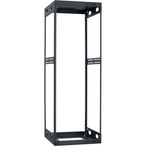 "Lowell Manufacturing Slim Knockdown Rack, 30U, 21""Deep"
