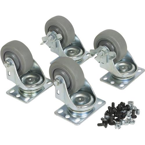 Lowell Manufacturing Fine-Floor Swivel Casters for LXR/LVR Racks(1-Pair Fine Swivel, and 1-Fine Swivel-Locking)