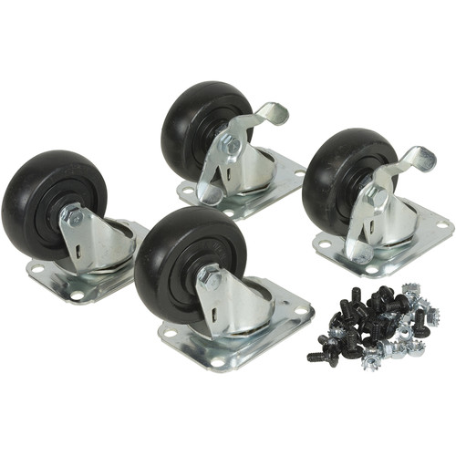 Lowell Manufacturing Swivel Casters for LXR/LVR Racks (Set Includes 1-Pair Swivel, and 1-Pair Swivel-Locking)