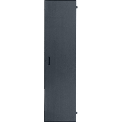 Lowell Manufacturing Door-Solid Front-22U, Fits LXR/LVR Series, Locking (Black)