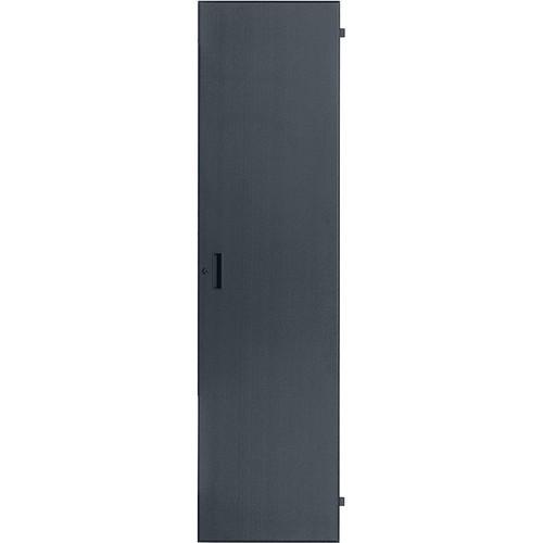 Lowell Manufacturing Door-Solid Front-8U, Fits LXR/LVR Series, Locking (Black)