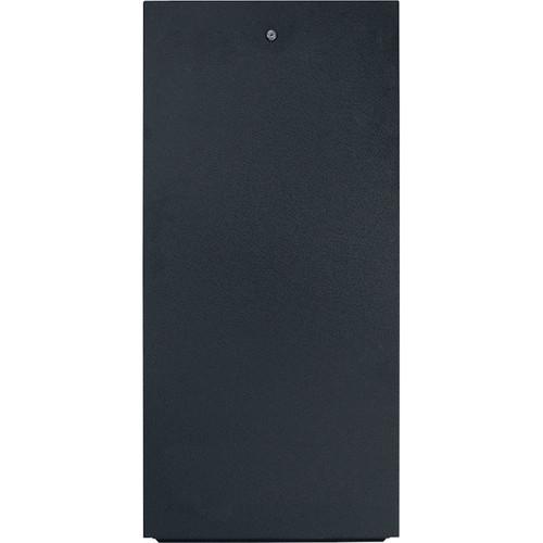 Lowell Manufacturing Rack-Rear Access Cover - 8U, fits LXR/LVR Series, Locking (Black)