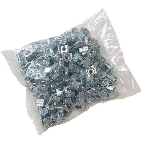 Lowell Manufacturing Hardware - 10-32 Cage Nuts - 100-Piece Bag (Black)
