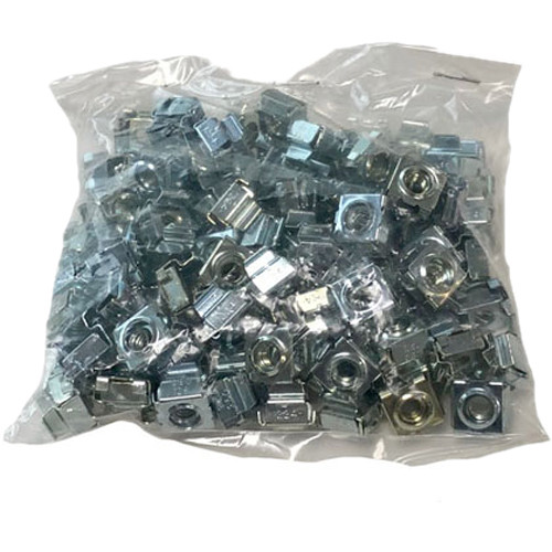 Lowell Manufacturing Hardware - 12-24 Cage Nuts - 100-Piece Bag (Black)