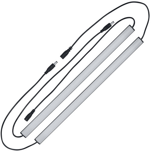 "Lowell Manufacturing Rack Light Bar-16"", White Light, Rocker Switch"