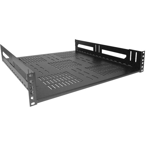 "Lowell Manufacturing Rack Kit Hinged Shelf - 2U, 18"" Deep (No Face Plate)"