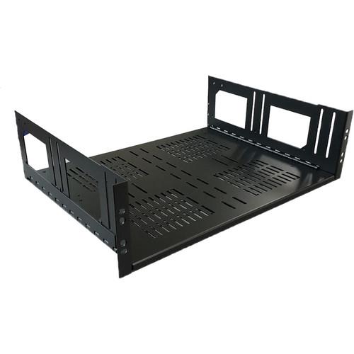 "Lowell Manufacturing Rack Kit Hinged Shelf - 3U, 14"" Deep (No Face Plate)"