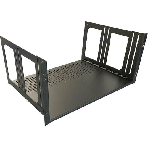"Lowell Manufacturing Rack Kit Hinged Shelf - 5U, 14"" Deep (No Face Plate)"