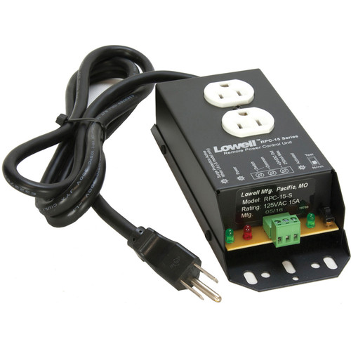 Lowell Manufacturing Remote Power Control - 15A, 1 Duplex Outlet, 6' Cord with Surge Suppression Protection