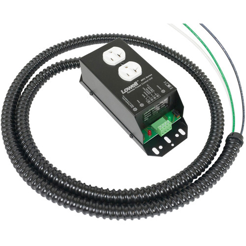 Lowell Manufacturing Remote Power Control - 20A, 1 Duplex Outlet, 6' with Flexible Conduit