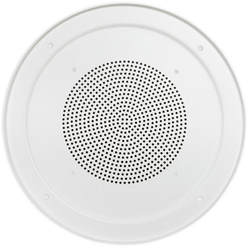 """Lowell Manufacturing Grille-8"""" Speaker, Aluminum, Screw Mount, 12.875"""" Diameter (White)"""