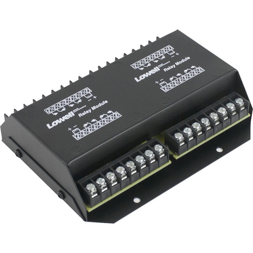 """Lowell Manufacturing Relay Module-5A, 24Vdc, 4-Dpdt Relays,  5""""L x 6.25""""W"""